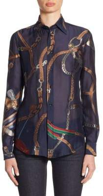 Ralph Lauren Collection Silk Button-Up Shirt