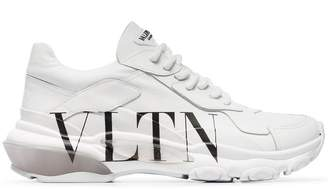 Valentino White Bounce low top leather sneakers