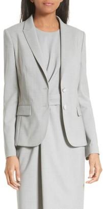 Women's Boss Jimelana Stretch Wool Suit Jacket $575 thestylecure.com