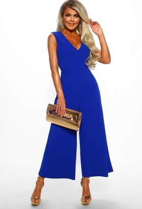 efbce26ead6d3 Pink Boutique Piece Of Me Cobalt Blue Culotte Jumpsuit