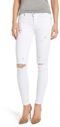 Women's Hudson Nico Ripped Ankle Super Skinny Jeans $185 thestylecure.com