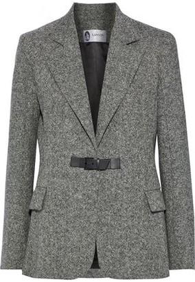 Lanvin Leather-trimmed Wool-tweed Blazer