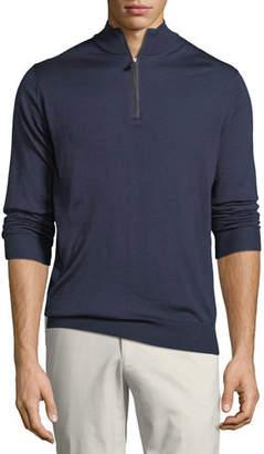 Peter Millar Merino Silk Quarter-Zip Sweater