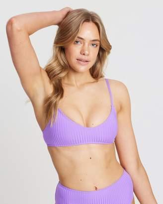 Cotton On Poppy Rib V-Neck Bralette Bikini Top