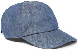 Brunello Cucinelli Linen Baseball Cap - Men - Blue