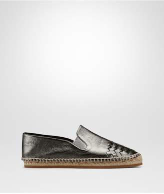Bottega Veneta Argento Antique Intrecciato Calf Gala Espadrille