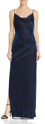 Laundry by Shelli Segal Metallic Draped Gown - 100% Exclusive