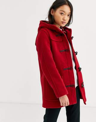 Gloverall Gloveral mid length duffle coat in wool blend