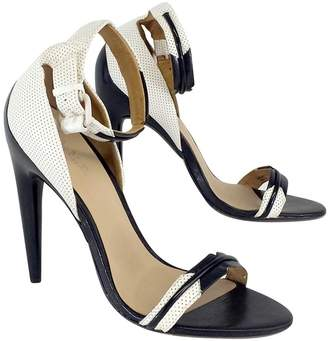 L.A.M.B. Black & White Ankle Strap Sandal Heels $98.99 thestylecure.com
