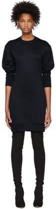 Tibi Navy Open Back Short Sweatshirt Dress