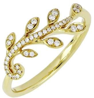 Bony Levy 18K Yellow Gold Diamond Wreath Stack Ring - 0.13 ctw