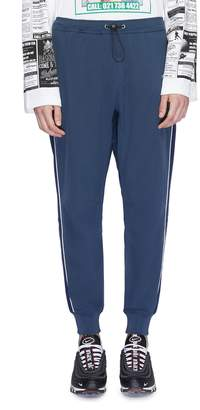 Daily Paper 'Chike' contrast piping drop crotch jogging pants