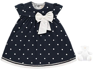 Emile et Rose Baby Molly Dress And Jersey Pants, Navy/White