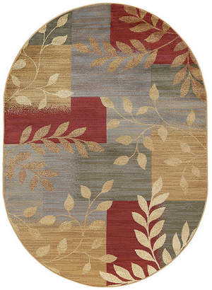 TAYSE Tayse Ditton Transitional Abstract Oval Area Rug