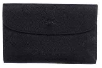 Longchamp Pebbled Leather Wallet