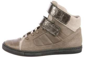 Brunello Cucinelli Suede High-Top Sneakers