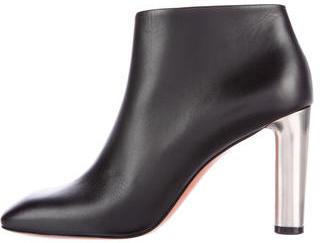 CelineCéline Leather Square-Toe Ankle Boots w/ Tags