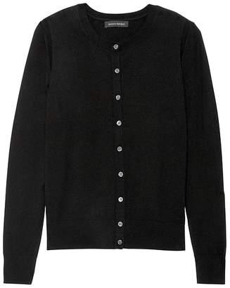 Banana Republic Machine-Washable Merino Wool Blend Cropped Cardigan Sweater