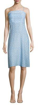 HVN Nora Star-Print Silk Dres $545 thestylecure.com