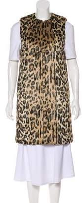 Alice + Olivia Longline Faux Fur Vest