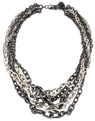 Giles & Brother Crystal Multistrand Chain Necklace