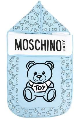 Moschino Kids logo teddy print sleeping bag