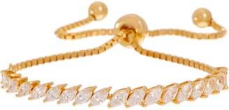 Diamonique Marquise Adjustable Bracelet, Sterling Silver