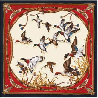 Gucci Silk scarf with flying ducks and belts