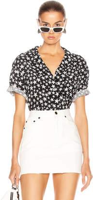 Acne Studios Sindra Print Shirt in Black & Grey | FWRD