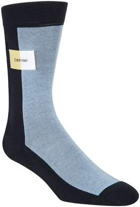 Calvin Klein Men's Colourblock Patch Crew Socks