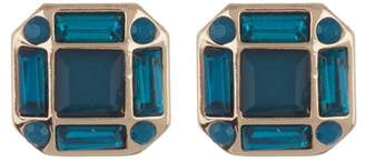 Halogen Banquette Stone Stud Earrings