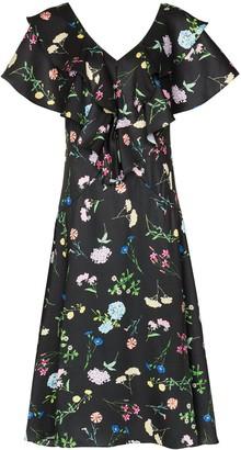 Paper London Maeva floral print ruffle dress
