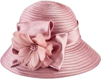 Cloche San Diego Hat Co. Satin with Flower Trim