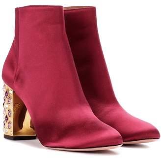 Aquazzura Party 85 satin ankle boots