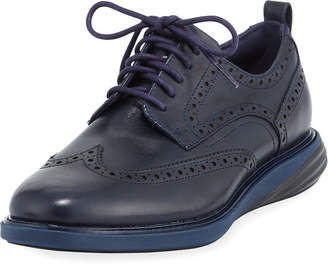 Cole Haan Men's Grand Evolution Leather Sneaker, Blue