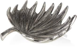Zodax Single Palm Leaf Aluminum Bowl