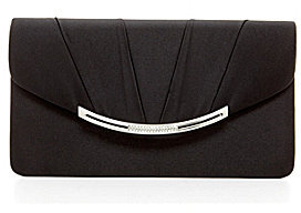 Kate Landry Satin Large Flap Clutch