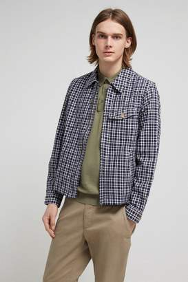 French Connenction Laundered Oxford Check Harrington Jacket