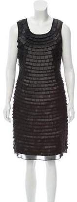 Yoana Baraschi Sleeveless Pleated Ribbon Dress