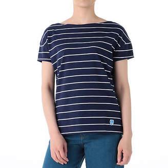 Orcival フレンチスリーブボーダーTシャツ