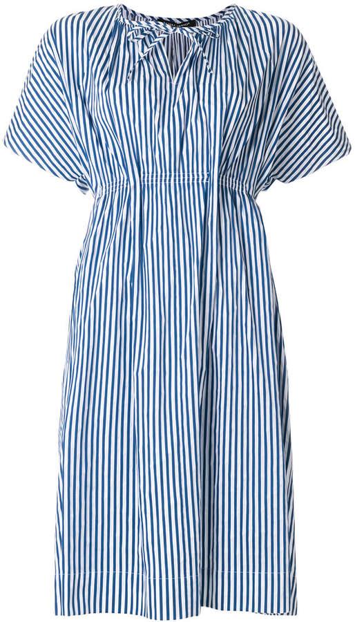 Luisa Cerano striped tie-neck detail dress