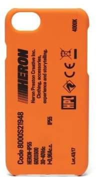 Heron Preston Stamp Iphone 8 Phone Case - Mens - Orange Multi