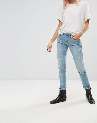 Blank NYC Silent Shout Paint Splash Skinny Jeans