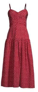 Rebecca Taylor Heart Print Midi Dress