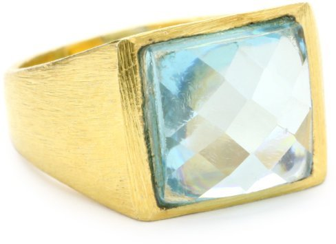 Wendy Mink Cocktail Hour Blue Cubic Zirconia Ring