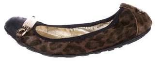 Jimmy Choo Ponyhair Cap-Toe Flats