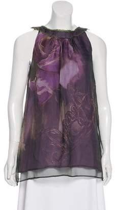 Easton Pearson Floral Print Silk Top