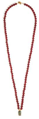 Elise Tsikis - Parral Beaded Necklace - Womens - Red