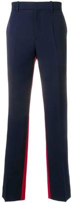 Calvin Klein two tone pleated trousers