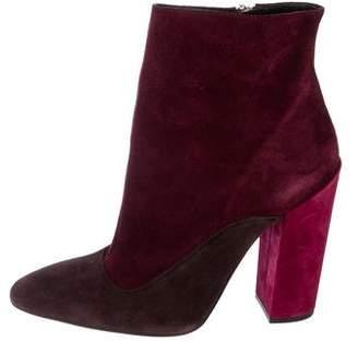 Giambattista Valli Colorblock Suede Ankle Boots